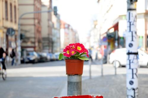 Rot: Kreuzung Louisenstraße/Görlitzer Straße/Rothenburger Straße