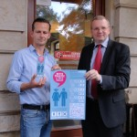 Café-Neustadt-Chef Thomas Spura und der zweite Bürgermeister Dresdens, Detlef Sittel