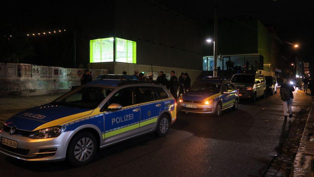 Polizeieinsatz auf der Alaunstraße