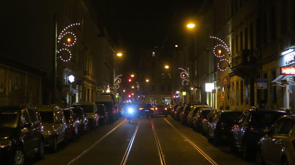 Kandelaber auf der Rothenburger Straße