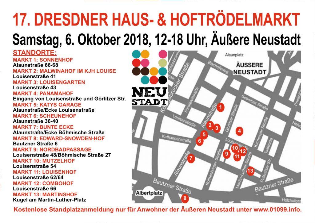 Haus- und Hof-Trödelmärkte am 6. Oktober